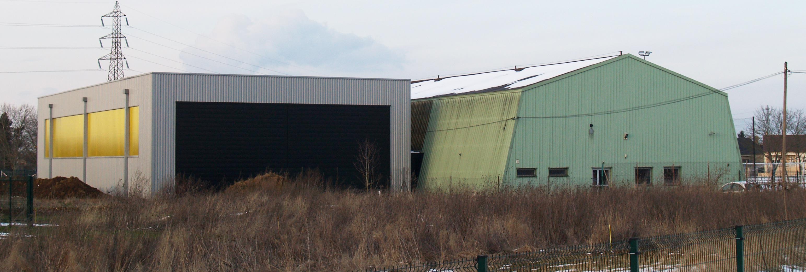 Construction d un tennis couvert uckange fabrice theis architecte d p l g thionville metz for Architecte thionville
